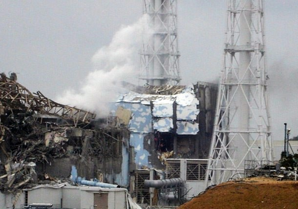 Central de Fukushima tras el accidente