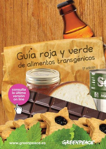 Cover of Guía roja y verde de alimentos transgénicos